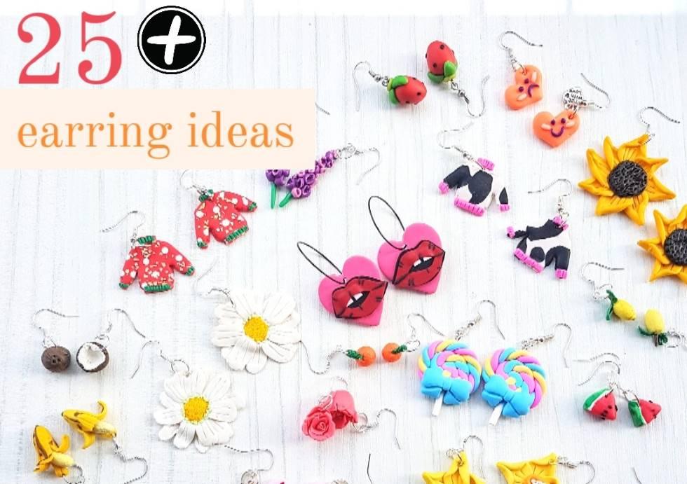 polymer clay earring ideas