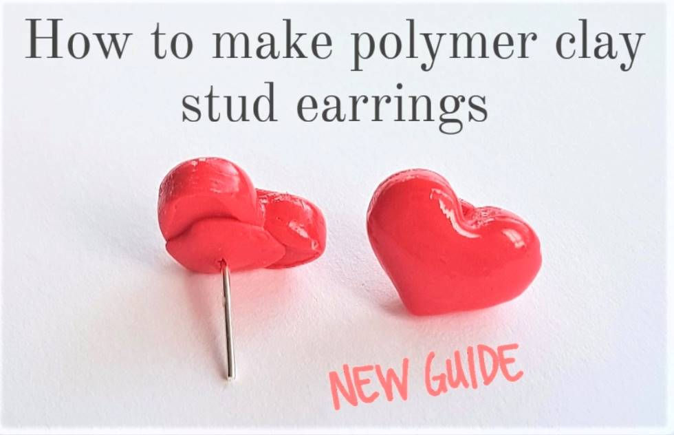 How to make polymer clay studs