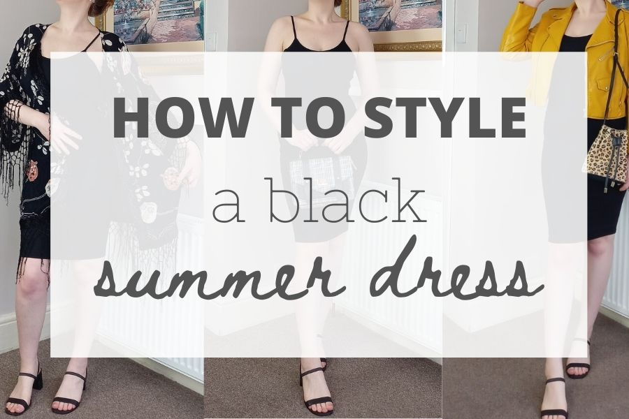 How to style a black summer dress