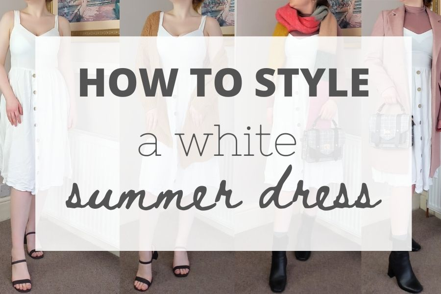 How to style a white summer dress