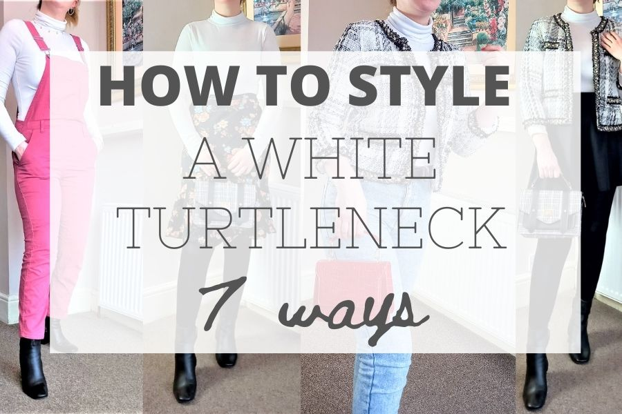 How to style a white turtleneck