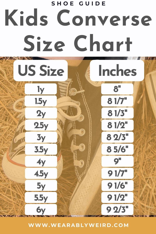 Converse Size Chart Kids