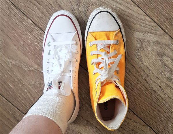 Converse low tops and high tops size